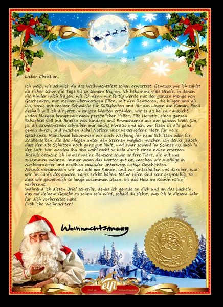 Brief Vom Weihnachtsmann Bzw Brief Vom Christkind Ebay 12