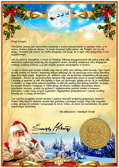 Brief An Den Weihnachtsmann Muster Elfi